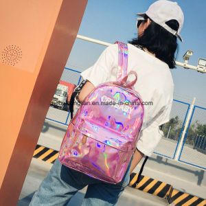 Heiße verkaufenHarajuku Art-Hochschule sackt rosafarbenen PU-Hologramm-Rucksack für Mädchen ein