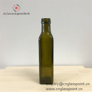 Bottiglia di vetro di cristallo all'ingrosso dell'olio di oliva 250ml