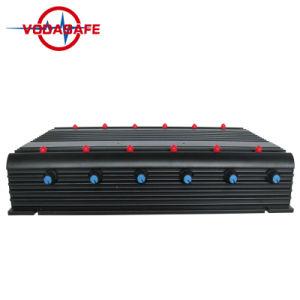 De nieuwe Regelbare Stoorzender van het Signaal van 12 Antenne met Veilig Geval; 2g+3G+2.4G+4G+GPS+Remote de Stoorzender van het Signaal van de controle; De mobiele Isolator van het Signaal van de Telefoon