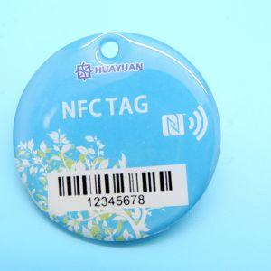 Número de Série do IC de RFID impressão 13.56MHz MIFARE Classic PVC 1K+cartão chave de epóxi