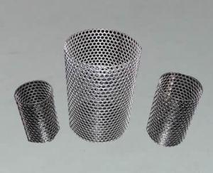 Filtre perforé de tubes fabriqués avec des trous ronds