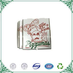 Пользовательский размер белого картона пиццу в салоне для пиццы упаковка