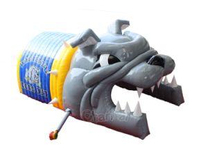 Buldogue inflável Futebol insuflável do túnel da Mancha para o caso do Chade365