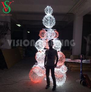 Kugel-Baum-Lichter des LED-bunte Weihnachten3d