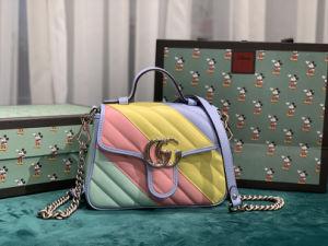 G Designer réplique de luxe Marmont Macaron couleur Lady Sac en bandoulière avec poignée