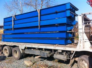 60tonne 18m de long Poids du chariot machine caravane de pesage multi pont bascule sur le pont bascule