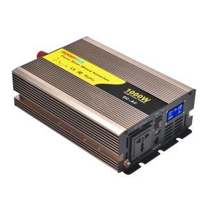 1000W/1kw 12V/24V/48V DC à AC 110V/120V/220V/230V onde sinusoïdale pure de convertisseur de puissance solaire