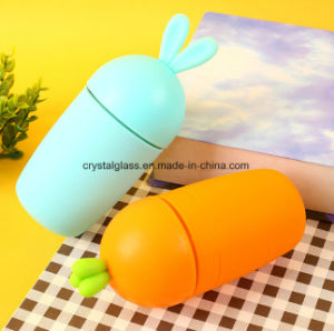 Formato de coelho garrafa garrafa de água do vaso de formato de cenoura para Senhoras