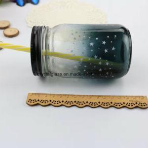 Glasglas-Raum-Glasnahrungsmittelglas des maurer-350ml mit Zinn-Schutzkappe