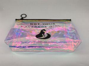 Dernière mode Sac de cosmétiques en PVC brillant feuille PVC PVC Laser