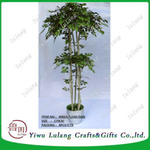 Venta caliente decoración plástico Artificial árbol Topiary Bonsai 175cm.