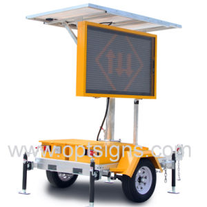 Optraffic IP65 LED de color ámbar Ce Portable solar en 5 colores remolque montado vms