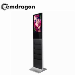 Brochura de apresentação de publicidade de 32 polegadas Titular Self Service Signege Digital Ecrã de Publicidade Video Player de chão do Elevador