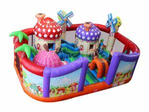 Casa de seta de dibujos animados castillos hinchables Playground Chob588