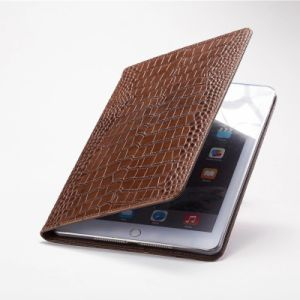 Stand comprimé motif crocodile Emplacements de carte d'affaires Smart Cache en cuir pour iPad Air/Mini /PRO10.5