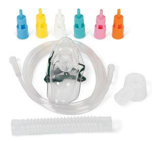Las máscaras de oxígeno y los tubos para adultos