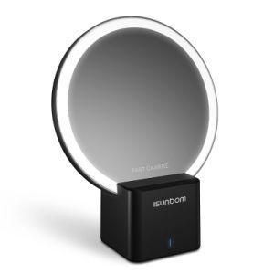 Venta caliente espejo nuevo diseño de la luz de la noche cargador inalámbrico para el iPhone soporte para la nota 8 de Samsung