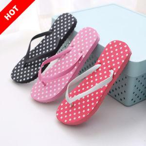 Playa de verano Sandalias de moda Dama personalizada impresa mujer zapatillas