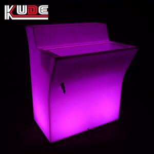Nachtclub-Stab-Dekoration des Stab-Tisch-Kunststoff-LED