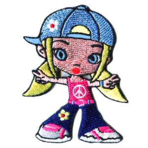 Form-Mädchen-fertigen volle Stickerei-Änderung am Objektprogramm mit als Dekoration kundenspezifisch an (011)