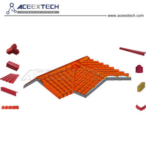 La ligne de production d'Extrusion de feuilles de PVC pour toit ondulé