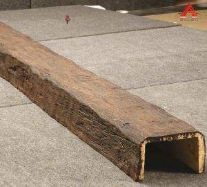 Poliuretano PU Faux viga de madeira para decoração de interiores e exteriores