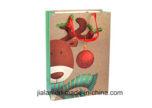 크리스마스를 위한 Hotsale 사랑스러운 선물 종이 봉지