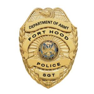 警察は装飾の試供品としてめっきされる金と記章を付ける! (244)