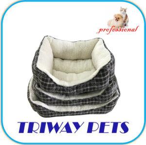 Tejido jacquard terciopelo Quilting y perro gato camas (WY180309A/C)