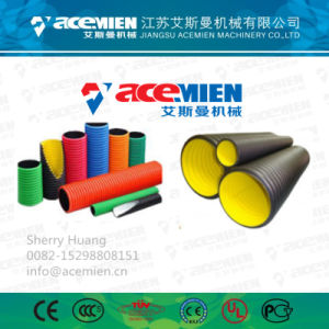 El abastecimiento de agua PE PP Tubo ondulado de la línea de extrusión de PVC de fábrica de equipos de la máquina con CE