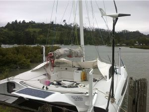 Мини-ветровой турбины на яхте (V400)