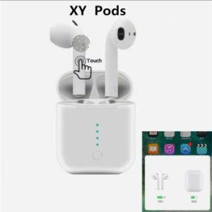 Mais novo carregamento sem fios Pods Xy 1: 1 double Wireless Bluetooth auriculares auscultadores com pop-up funcione