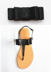 La mujer de Disigner Cuero Zapato con decoración Bowknot