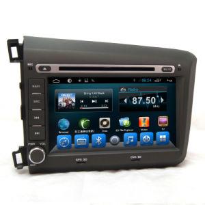 Double DIN automática do rádio Android com GPS para 2012 Honda Civic Esquerda