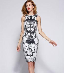 夏優雅なプリント女性のプロムのイブニング・ドレス