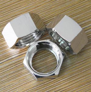 Les écrous hexagonaux en acier au carbone avec placage nickel, raccords, les fixations