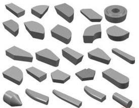 O carboneto de tungsténio brasagem dicas de ferramenta de corte