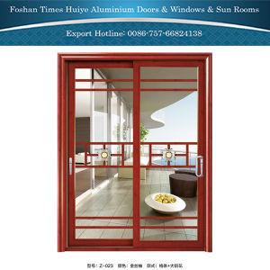 Portelli scorrevoli di alluminio decorativi di stile cinese con i vetri vuoti temperati