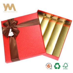 Rectángulo Personalizado de Chocolate de papel caja con cierre de cinta