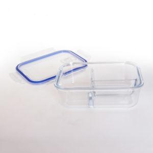 Luftdichter Glasvorbereitungs-Behälter der mahlzeit-3-Compartment mit dem Sperrung der Kappe
