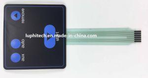 Puntos de Contacto de plata en el circuito de Pet gráfico troquelados Interruptor de membrana