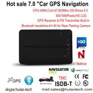Percorso marino di GPS del camion dell'automobile dell'OEM 7.0  IPS con il trasmettitore di FM, Avoirdupois-in macchina fotografica posteriore, sistema di percorso tenuto in mano di GPS, Bluetooth per il telefono mobile, inseguitore di Tmc, TV