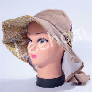 Hat釣バケツの日曜日の昇進女性