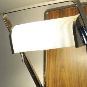Design moderno folheado de madeira e malha metálica rotativa sombra nos Méganes Scénic candeeiro de parede de parede