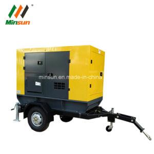 30kw silencieux Type d'auvent mobile Générateur Diesel de remorque