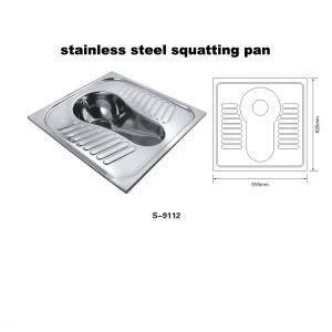 ステンレス鋼のしゃがむ鍋の洗面所(WC) (9112V)