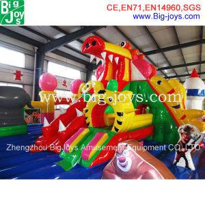 Cidade divertida insufláveis gigantes, Dragon Bouncer insufláveis deslize