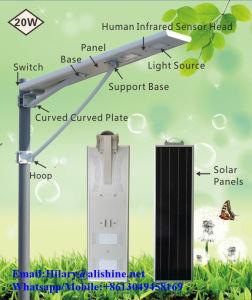 Fühler-im Freienbeleuchtung alle der Bewegungs-20W in einer Solarlampe