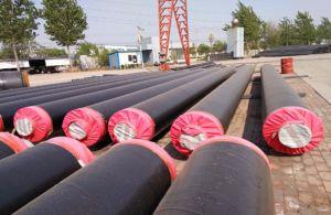 Gutes fabriziertes thermische Isolierungs-Stahlrohr mit dem PU-Schaumgummi isoliert für Tiefbaurohrleitung