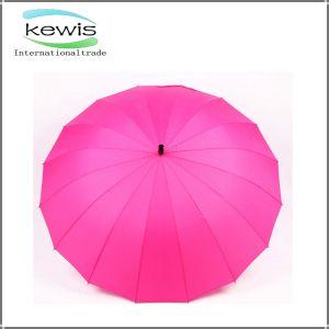 最上質のピンクカラー18パネルの昇進の傘